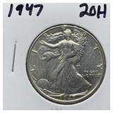 1947 WALKING LIBERTY SILVER HALF DOLLAR