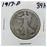 1917-D WALKING LIBERTY SILVER HALF DOLLAR