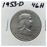 1953-D FRANKLIN SILVER DOLLAR