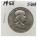 1958 FRANKLIN SILVER DOLLAR