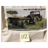 Jeep Willys MB with trailer