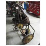 Welding tank cart with hose