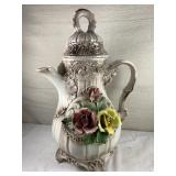 Capodimonte Pitcher with lid