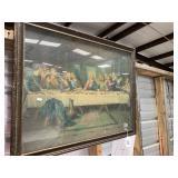Vintage  Last Supper framed print
