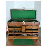 Vintage Wood Machinist Tool Chest