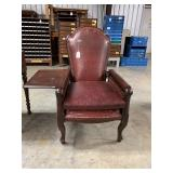 Ant. Leather Morris Chair