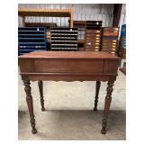 Antique piano style desk