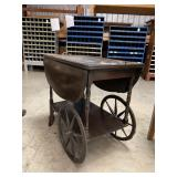 Ant. Walnut Tea Cart
