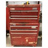 Sears Craftsman 2 pc red toolchest w welding tools