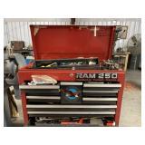 Craftsman tool box full of welding supplies