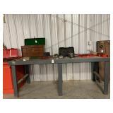 Steel transmission or shop table