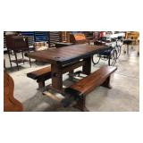 Liberty ship table with 2 benches