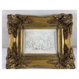 G Andreon 1875 Italian Marcle Cherub Relief Plaque