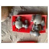Three Brass Schebler Carburetors