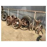 Nine Wheels and Front Axle