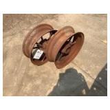 Pair of John Deere Front Wheels