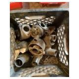 Crate of Marvel Schebler Carburetor Parts