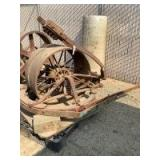 Holt Harvester Front Wheel and Turn Table