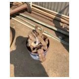Bucket of Miscellaneous Hooks