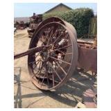 Three Steel Holt Harvester Wheels