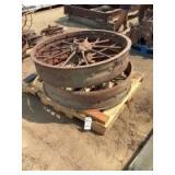 Front Steer Wheels, Steel