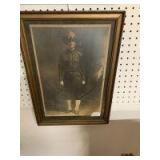 Vintage picture and fishing shadow box