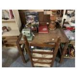 Small oak desk and chair