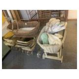 Baby clothes, baby baskets, baby carriages