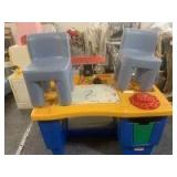 Little Tykes workbench and chairs