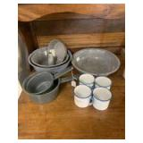 Angel cake pans, bowls and cups