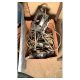 Box of misc electric hand tools