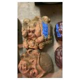 Wooden hand carved heads
