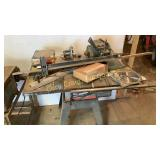 Craftsman table saw and all items on top