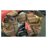 Tool belt with contents