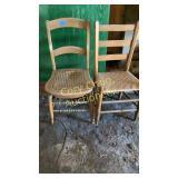 2 straight chairs