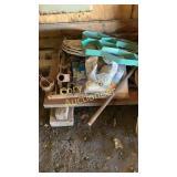 Misc items Tarp , concrete mold , pipe bender