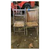 2 #wood folding chairs