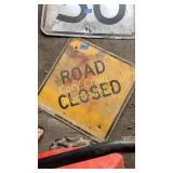 Metal Road sign