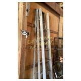 2 8 ft wood ladders