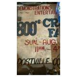 Wood hand painted sign