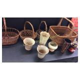 Whicker Baskets, Frankoma, Smoke Pipes,