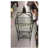 "Decorative Wire Rack 3 Shelves 44"" T"