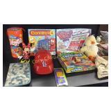 Games, St. Louis Cardinals hat, pencils, duck,