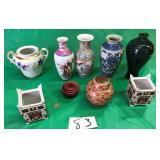 Ginger Jars, Vases, Derbishire Imari Planters, etc