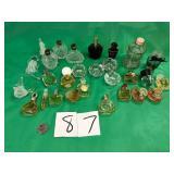 Perfume Bottles, Spun Glass, OC Japan Atomizers+