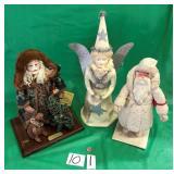Christmas Santas & Angel