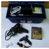 2 Hot Glue Guns with Glue in Box