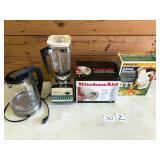 Kitchen-aid slicer, salad shooter, Blender