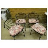 Iron Garden table w pinecone designs