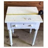 White Crackeled Painted Table